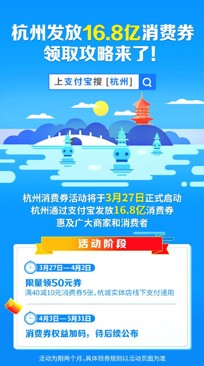 杭州联合支付宝发放16.8亿消费券_金融_电商报