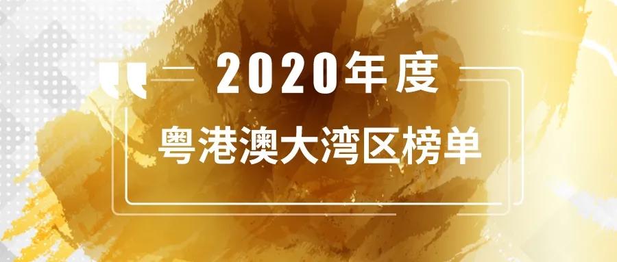 投中2020年度粤港澳大湾区榜单